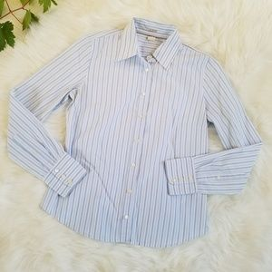 J. Crew Women's Striped Slim Fit Button Up Shirt
